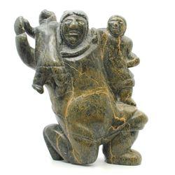 "Limeonie Killiktee's ""Mother and Child"" original Inuit"
