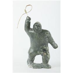 "Mark Nopooklook's ""Man With Whip"" Original Sculpture"