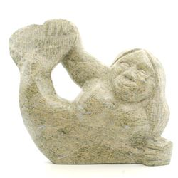 "Pitsiulak Michael's ""Sedna"" Original Inuit Carving"
