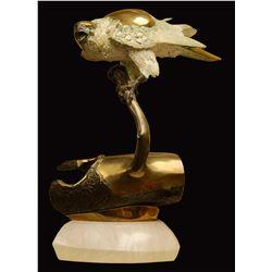 "Ron Chapel's ""Sky Touching Earth"" L.E. Bronze Sculpture"