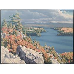 "E. Robert Ross's ""Above George Lake"" Original"