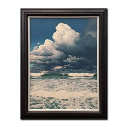 """E. Robert Ross's """"Storm Clouds and Breaking Waves"""" Orig"""