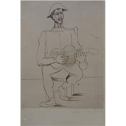 "Pablo Picasso's ""Arlequin Moustachu a La Guitare"""