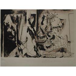 "Pablo Picasso's ""Chevalier en Armure"" Lithograph"