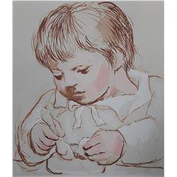 """Pablo Picasso's """"Enfant Dejeunant"""" Lithograph"""