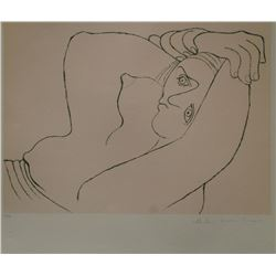 """Pablo Picasso's """"Femme Couchee"""" Lithograph"""