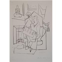 """Pablo Picasso's """"Femme Dans Un Fauteuil"""" Lithograph"""