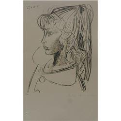 """Pablo Picasso's """"Sylvette Du Profil Gauche"""" Lithograph"""
