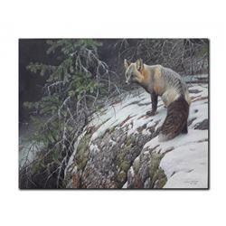 """Robert Bateman's """"Fox Crossing"""" LE Canvas"""