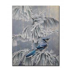 "Robert Bateman's ""Frosty Morning- Blue Jay"" LE Rigiclee"