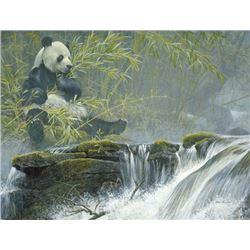 "Robert Bateman's ""Giant Panda"" LE Canvas"