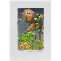 """Robert Bateman's """"Golden-Headed Lion Tamarin"""" Litho"""