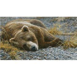 "Robert Bateman's ""Grizzly At Rest"" LE Canvas"