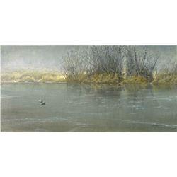 "Robert Bateman's ""High Water - Mallard Pair"" LE Canvas"