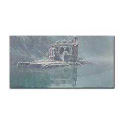 "Robert Bateman's ""Hindu Temple- Tiger"" LE Canvas"
