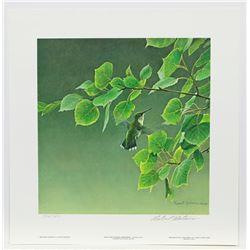 "Robert Bateman's ""Hummingbird Pair"" LE Prints"