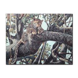 "Robert Bateman's ""Leopard In A Sausage Tree"" LE Canvas"
