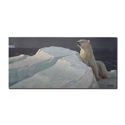 "Robert Bateman's ""Long Light- Polar Bear"" LE Canvas"