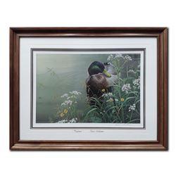 "Robert Bateman's ""Meadows Edge- Mallard"" LE Print"