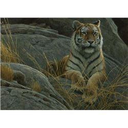 "Robert Bateman's ""Monarch of Asia"" LE Canvas"
