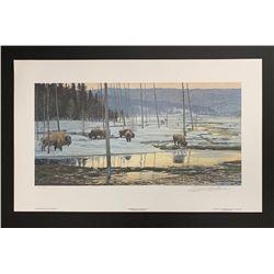 "Robert Bateman's ""Morning of the Flats- Bison"" LE Print"