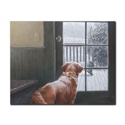 "Robert Bateman's ""Observing Christmas"" LE Canvas"