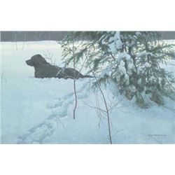 "Robert Bateman's ""Off The Leash"" LE Canvas"