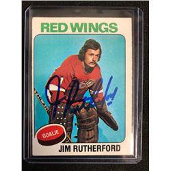 1975-76 O-Pee-Chee #219 Jim Rutherford Signed Hockey Card