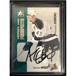 ALEXANDRE BURROWS SIGNED ITG HEROES AND PROSPECTS HOCKEY CARD