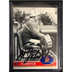 ED JOHNSTON SIGNED 1972 HOCKEY CANADA HOCKEY CARD
