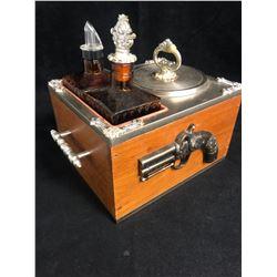 Vintage Liquor Decanter & Ice Box