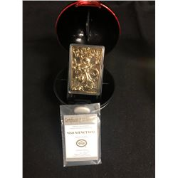 POKEMON SPECIAL EDITION 23 KARAT GOLD PLATED TRADING CARD #150 MEWTWO w/ CASE & COA