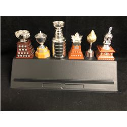 2003 McDonald's 6 Mini Replica NHL Trophies Complete Set With Stand