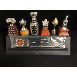 2003 McDonald's 6 Mini Replica NHL Trophies Complete Set With Card And Stand