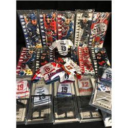 McDONALD'S NHL MINI JERSEYS & STICKS LOT