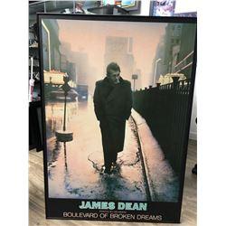 "JAMES DEAN ""BOULEVARD OF BROKEN JAMES"" FRAMED PAINTING  30 X 36 (PAINTED BY HELWEIN)"