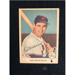 1959 Fleer Ted Williams #63 Ted's All-Star Record