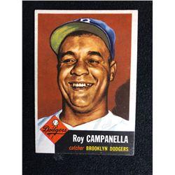 1953 Topps Roy Campanella Brooklyn Dodgers #27 Baseball Card