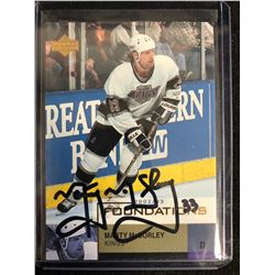 MARTY McSORLEY SIGNED UPPER DECK 2002-03 FOUNDATIONS HOCKEY CARD