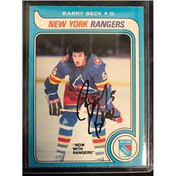 BARRY BECK SIGNED VINTAGE HOCKEY CARD
