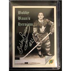 BOBBY BAUN SIGNED ULTIMATE HOCKEY CARD