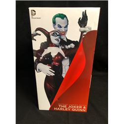 DC COLLECTIBLES THE JOKER & HARLEY QUINN HAND SCULPTED COLD PORCELAIN STATUE