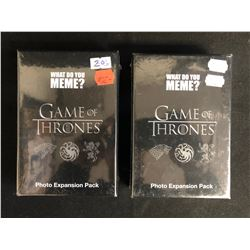 WHAT DO YOU MEME? GAME OF THRONES PHOTO EXPANSION PACK LOT (SEALED BOXES)