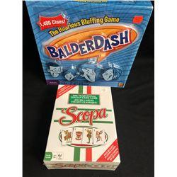 BALDERDASH/ SCOPA GAMES LOT