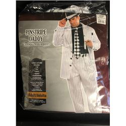 PINSTRIPE DADDY 5 PIECE HALLOWEEN COSTUME (ONE SIZE FITS MOST)
