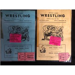 VINTAGE 1949 VANCOUVER BC EXHIBITION GARDENS WRESTLING PROGRAMS & TICKETS LOT