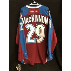 NATHAN MacKINNIN SIGNED AVALANCHE JERSEY (FRAMEWORTH HOLO)