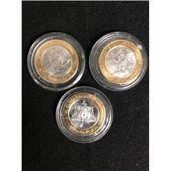 LIMITED EDITION $10 FOUR QUEENS GAMING TOKENS (LAS VEGAS, NEVADA)