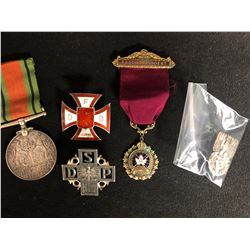 Royal Canadian Legion Past President Medal Ribbon/ Ww2 1939-1945 The Defence Silver Medal w/ Ribbon