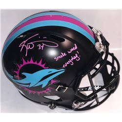 "Ricky Williams Signed Dolphins Full-Size Authentic Helmet Inscribed ""smoke weed everyday"" (PSA COA)"